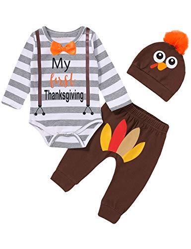 Shalofer Baby Boy My First Thanksgiving Bodysuit...
