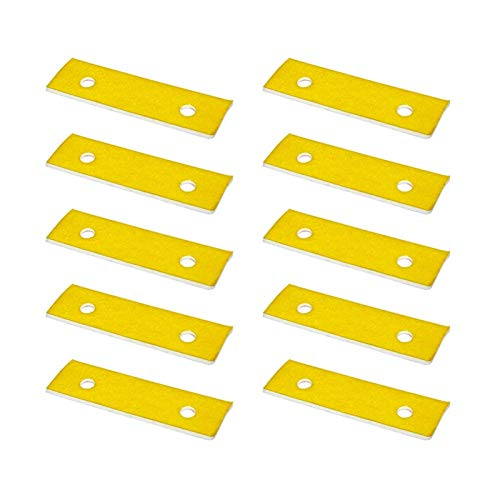 Printer Accessories 10PCS 2mm Thick Heating Block Cotton High Temperature Resistant Suitable for Makerbot Ultimaker 3D Printer Hotend Nozzle Heat 3D Printing Accessories (Size : No Hole)