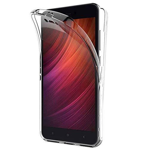 TBOC Funda para Xiaomi Redmi Note 5A (5.5 Pulgadas) - Carcasa [Transparente] Completa [Silicona TPU] Doble Cara [360 Grados] Protección Integral Total Delantera Trasera Lateral Móvil Resistente Golpes