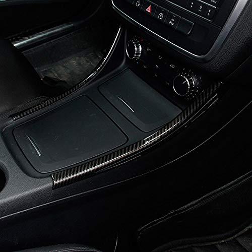 Lot de 2 bandes décoratives chromées en fibre de carbone pour console centrale Benz Classe A/GLA/CLA W176 A180
