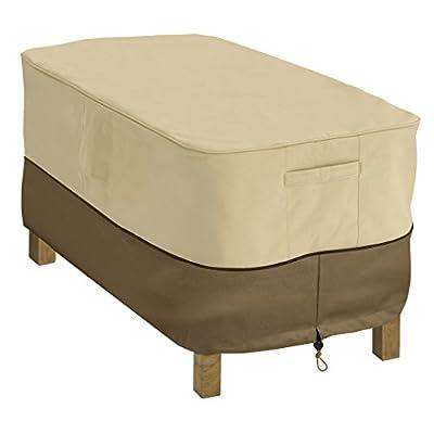 Classic Accessories Veranda Water-Resistant 48 Inch Rectangular Patio Coffee Table Cover