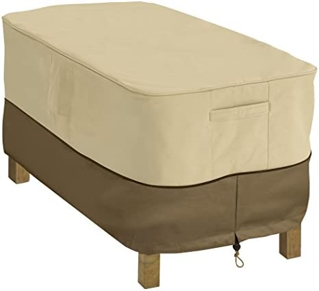 Best Classic Accessories Veranda Water-Resistant 48 Inch Rectangular Patio Coffee Table Cover