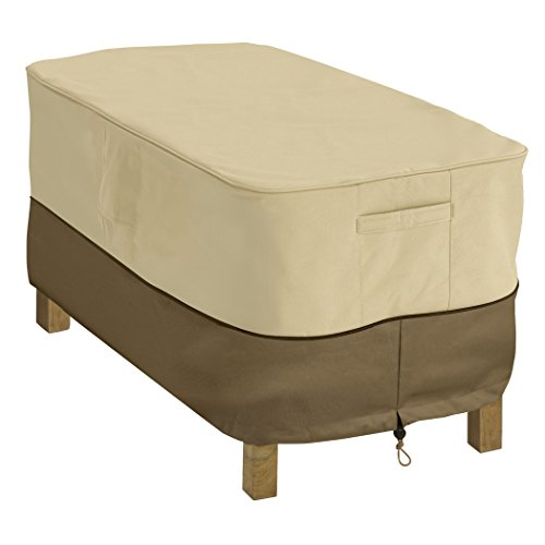 Classic Accessories Veranda Water-Resistant 48 Inch Rectangular Patio Coffee Table Cover