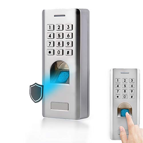 Fingerabdruck Türschloss, Metall Zutrittskontrollsystem, Fingerabdruck Zugangskontrolle, Zugangskontrolle Fingerabdruck Codeschloss mit Keypad, Wiegand 26 Digit Output, für Home Sicherheit