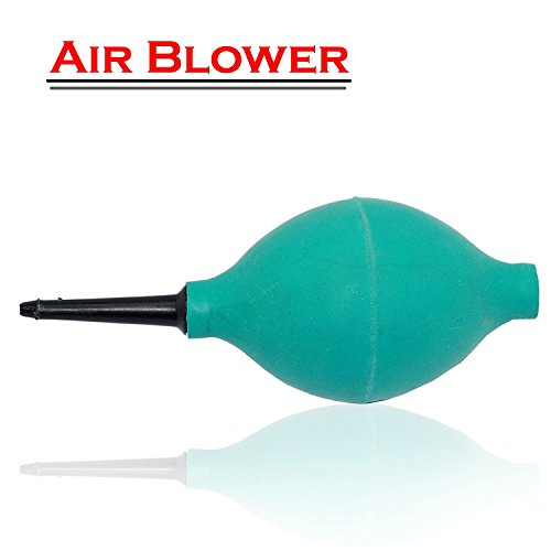 UNMCORE Rubber Air Blower Pump Dust Cleaner Removar For Keyboard Digital SLR Camera Lens Watch Cell Phone Computer Laptop PC and Screen - Dark Green
