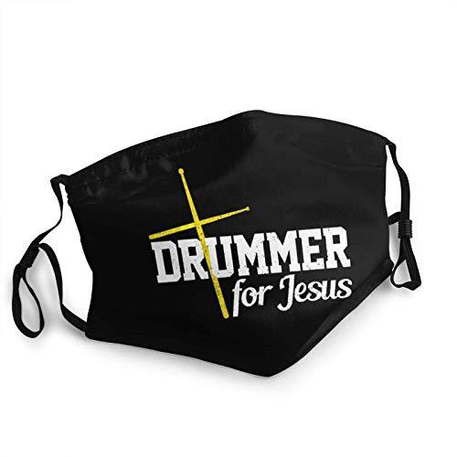 Adult Kids Reusable Face Balaclava Drummer für Jesus Christian Drums Anti Dust & Washable Face Balaclava für Frauen und Männer-one_Color-