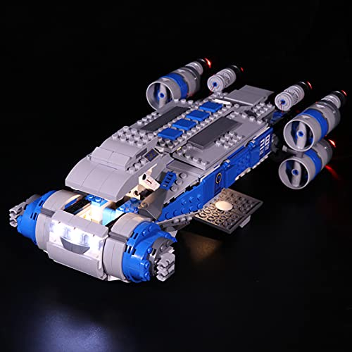 xSuper 75293 Kit de iluminación LED compatible con Lego Star Wars 75293 Resistencia I-TS Transporte Set - Versión clásica (LED incluido solamente, sin kit de lego)