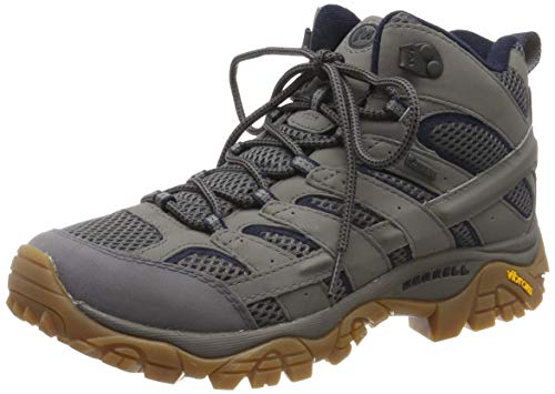 Merrell Men's High Rise Hiking Boots, Grey Charcoal, 44.5