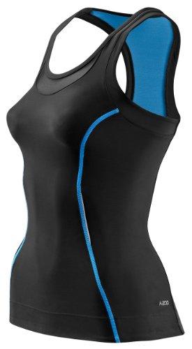 SKINS A200 Haut de Compression pour Femme M Noir/Bleu