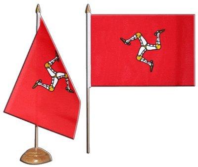 Flaggenfritze® Tischflagge Großbritannien Isle of Man - 15 x 22 cm