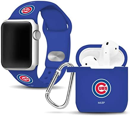 Chicago Cubs Silicone Sport Combo Package Compatible with Apple Watch and Airpods Battery Case product image