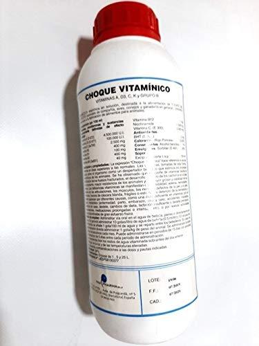 Choque Vitamínico Pax Farma 1 Litro. Aves de Jaula