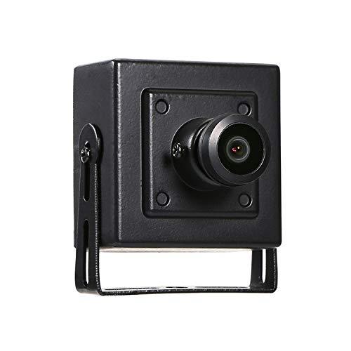 Revotech® - Fisheye HD 1920 x 1080P 2.0MP Innenraum IP Kamera Mini Typ Sicherheit Metall Kamera ONVIF P2P CCTV Kamera (I706-4 Schwarz)