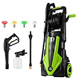 TOOLUCK 3500PSI Pressure Washer 2.6GPM 1800W Electric Power Washer with 4 Spray Modes, Portable High Pressure Washer, Cleaner Machine for Cars/Fences/Garden/Patios/Pool ( Green )
