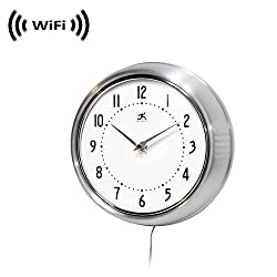 1080p IMX323 Sony Chip Super Low Light Wireless Spy Camera with WiFi Digital IP Signal, Recording & Remote Internet Access (Camera Hidden in a Wall Clock) (Silver)