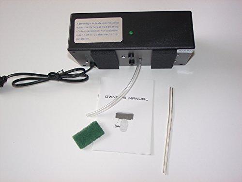 One Quart Nano Particle Colloidal Silver Generator 110-120V (Black)