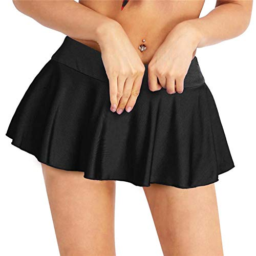 GYYWAN Fashion Womens Sexy Clubwear Miniröcke Elastischer, Aktiver Micro-Minirock Mit Inneren Shorts