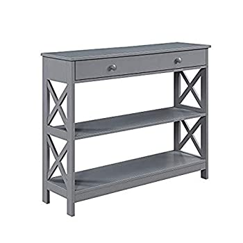 Convenience Concepts Oxford 1 Drawer Console Table Gray