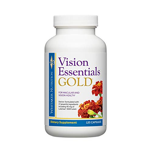 Dr. Whitaker's Vision Essentials Gold - Eye Health Supplement with 40 mg of...