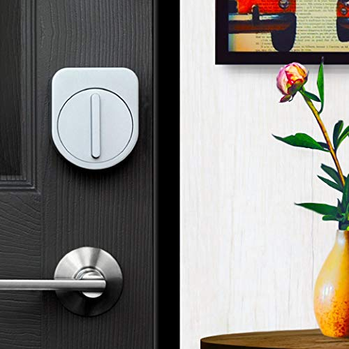 セサミスマートロック本体マットブラック工具不要取付スマートフォンでドアを施錠解錠