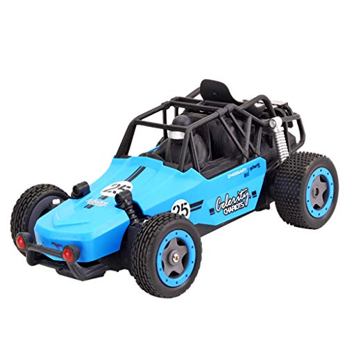 jiumoji JJR/C Q73 1:20 2.4GHZ 2WD Radio Remote Control Off Road RC RTR Racing Car Truck Built-in Rechargeable Battery (-Blue, 18.8 x11cm)
