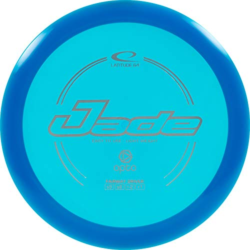 Latitude 64 Opto Jade Disc Golf Driver | Frisbee Golf Fairway Driver | Beginner Friendly Stable Golf Disc | Reliable Flight Patterns | Stamp Colors Will Vary (Blue)
