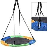 LVLUOKJ Pájaro NID Swing, Disco Redondo de Tela Oxford Oxford con jardín de Cuerdas para niños, diámetro: 100 cm, Capacidad de Carga máxima de 200 kg