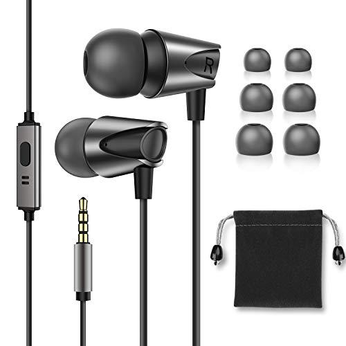 In-Ear-Kopfhörer, hochauflösende geräuschisolierende Ohrhörer Kabelgebundene Ohrhörer mit tiefem Bass und hochempfindlichem Mikrofon für iPhone, Android-Smartphones MP3 mit 3,5-mm-Audiobuchse
