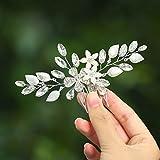 Unicra Peine para el pelo de novia de plata, accesorio para el pelo de cristal para mujeres y niñas