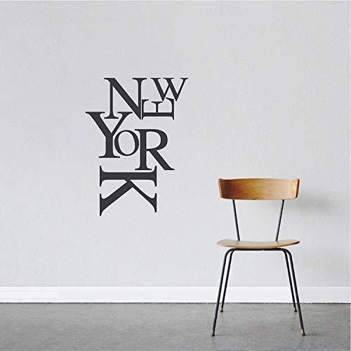 Moderne New York Wand Schriftzug Aufkleber New York Schrift Wand Vinyl Aufkleber New York Abnehmbare Wandtattoo Moderne New York Wandtattoo Aufkleber 43p