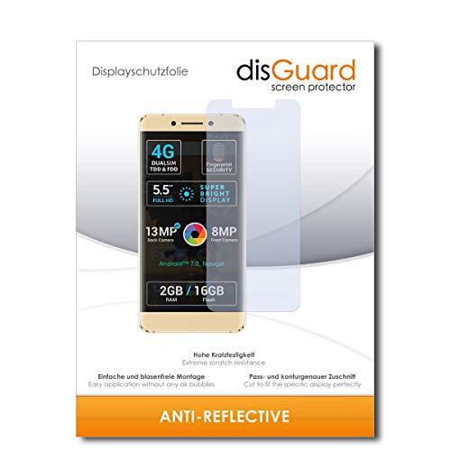 disGuard® Bildschirmschutzfolie [Anti-Reflex] kompatibel mit Allview P8 Pro [2 Stück] Entspiegelnd, Matt, Antireflektierend, Extrem Kratzfest, Anti-Fingerabdruck - Panzerglas Folie, Schutzfolie
