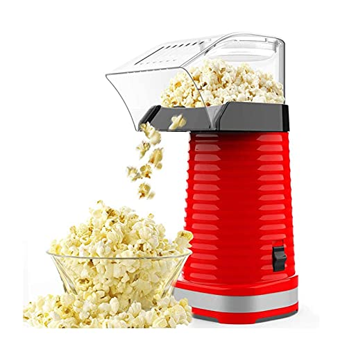 XTZJ Máquina de palomitas de palomitas de aire caliente, fabricante de palomitas de maíz, 1200 W Popncorn Popper, sin aceite, con taza de medición y tapa extraíble, ideal para fiestas familiares
