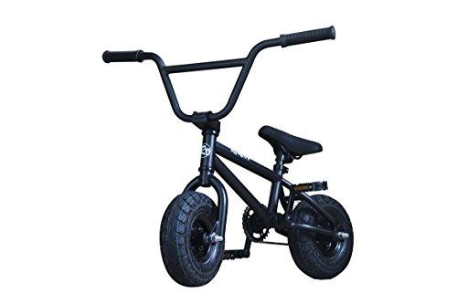 R4 Matte Black Complete Pro Stunt Jump Mini BMX Bike W/Pegs