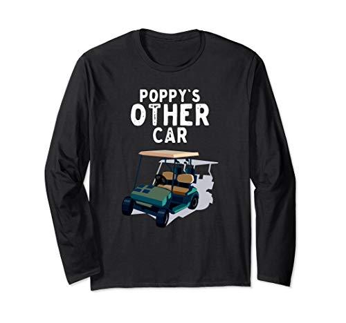 Anderes Auto des Mohns lustiges Golfmobil-Spieler-Geschenk Langarmshirt