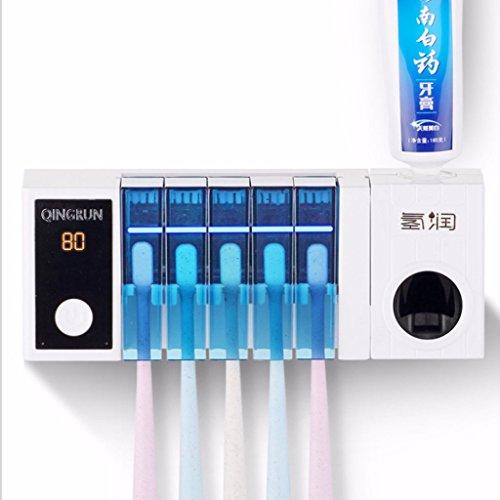 Esterilizadores Cepillo de Dientes UV, Exprimidor de Pasta de Dientes, Conjunto de Cinco cepillos de...