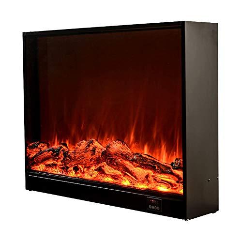 HYDDG Chimenea eléctrica empotrable, calefactor eléctrico empotrable, estufa de interior con mando a distancia con efecto llama de fuego real para calefacción de invierno