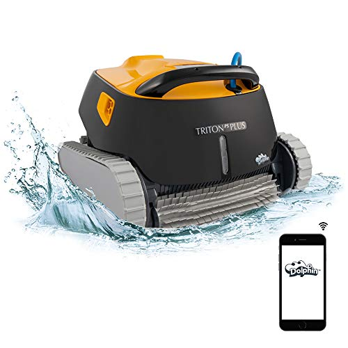 Dolphin Triton PS Plus WiFi Operated Robotic Pool [Vacuum] Cleaner - Ideal for In Ground Swimming Pools up to 50 Feet - Powerful Suction to Pick up Small Debris - Easy to Clean Top Load Filter Basket