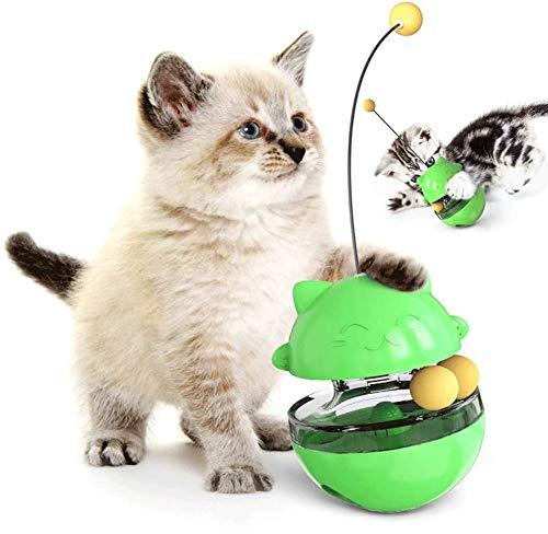 BAYINBROOK Giochi Interattivi per Gatti Palla, Giocattolo Tumbler per Gatto,Cibo per Gatti Dispensare Il Giocattolo Dell'Animale Domestico Palla di Cibo per Animali Domestici