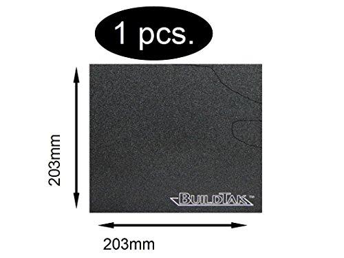 BuildTak - Placca di rivestimento per stampante 3D, dimensione a scelta, 203x203mm BT08x08, 1