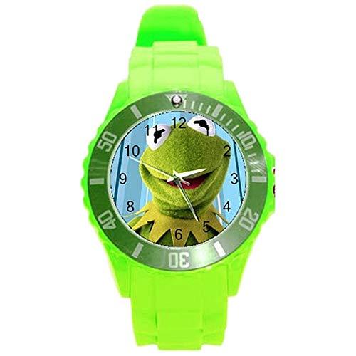 Kermit der Frosch Mädchen oder Jungen Uhr mit grünem Kunststoffarmband