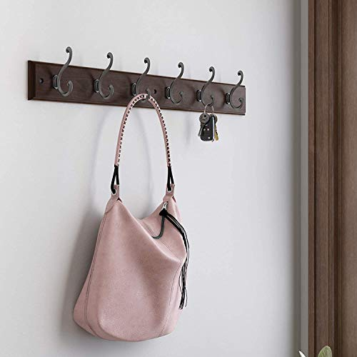 Liberty Hardware 165541  Six Scroll Hook Rack Cocoa and Soft Iron,  27-Inch