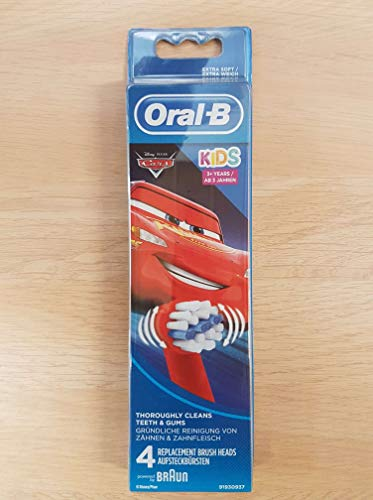 Oral-B Stages Power Replacement Toothbrush Heads Disney Cars 4 per Pack (Packaging may vary)