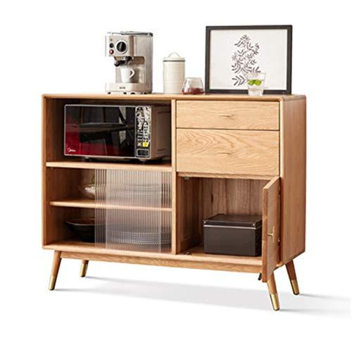 Feixunfan Aparador Cabineta de té nórdico del aparador Moderno Moderno Minimalista Cocina Cocina Gabinete para el Pasillo de la Sala de Estar (Color : Natural, Size : 120x40x95cm)