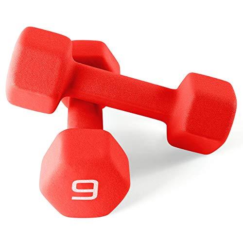 CAP Barbell Mancuernas de neopreno de color con revestimiento de neopreno, para ejercicios y fitness, para gimnasio en casa, entrenamiento, entrenamiento de fuerza, peso libre para mujeres y hombres