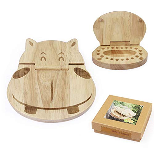 ZRABCD Educational Toys, Boy Toys, Girl Toys, Car Toys, Car Models,Baby Tooth Box,Wooden Kids Keepsake Organizer Gift for Baby Teeth Cute Children Tooth Container with Tweezers to Keep The Childwood