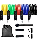 Exercise and Resistance Bands Set - Stackable Up to 100 lbs with Carry