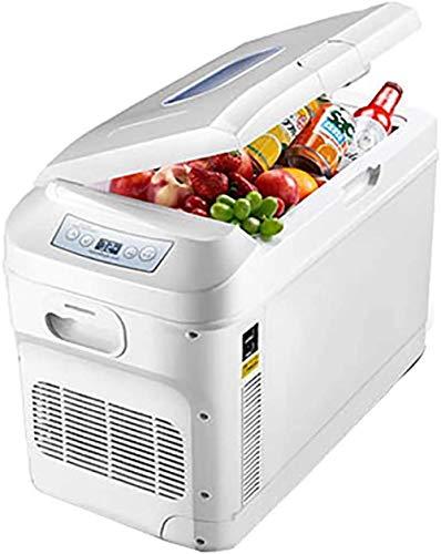WRJY 28 Liter Mini-Autokühlschrank Dual-Core-Kühlung Tragbarer Kompressor Kühlschrank Gefrierschrank Mindesttemperatur -18 ° -65 °-Weiß