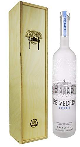 Belvedere Wodka 1,75l in Premium-Rum Holzbox - Premium Vodka aus Polen