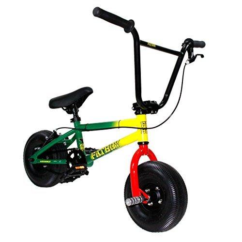 Fatboy Mini BMX Bicycle Freestyle Bike Fat Tires Rasta Assault by Mini BMX