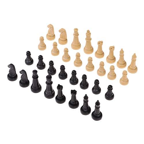 THQC 32 PC-International Chess Set Pieces Set Brettspiel Funny Game Chessmen Sammlung bewegliches Brettspiel